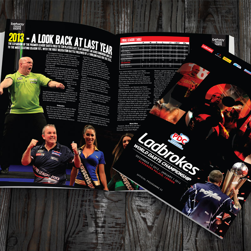PDC World Champs prog