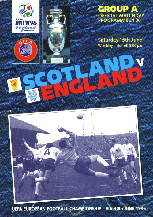Saturday 15th June 1996. 3.00pm kick-off Wembley Stadium, London